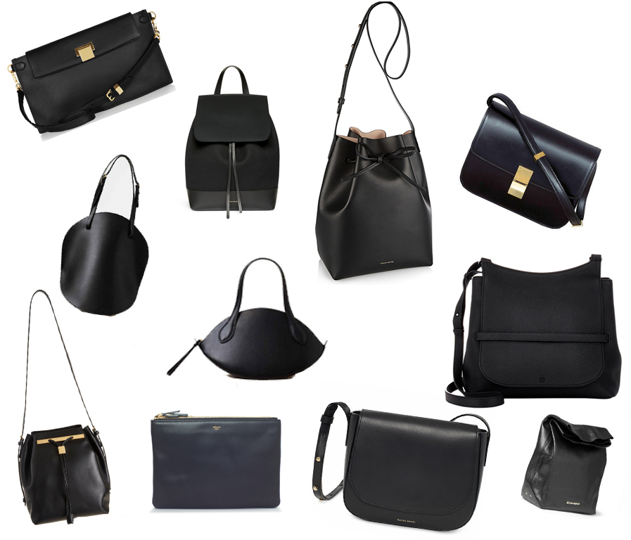 ebay black leather bags