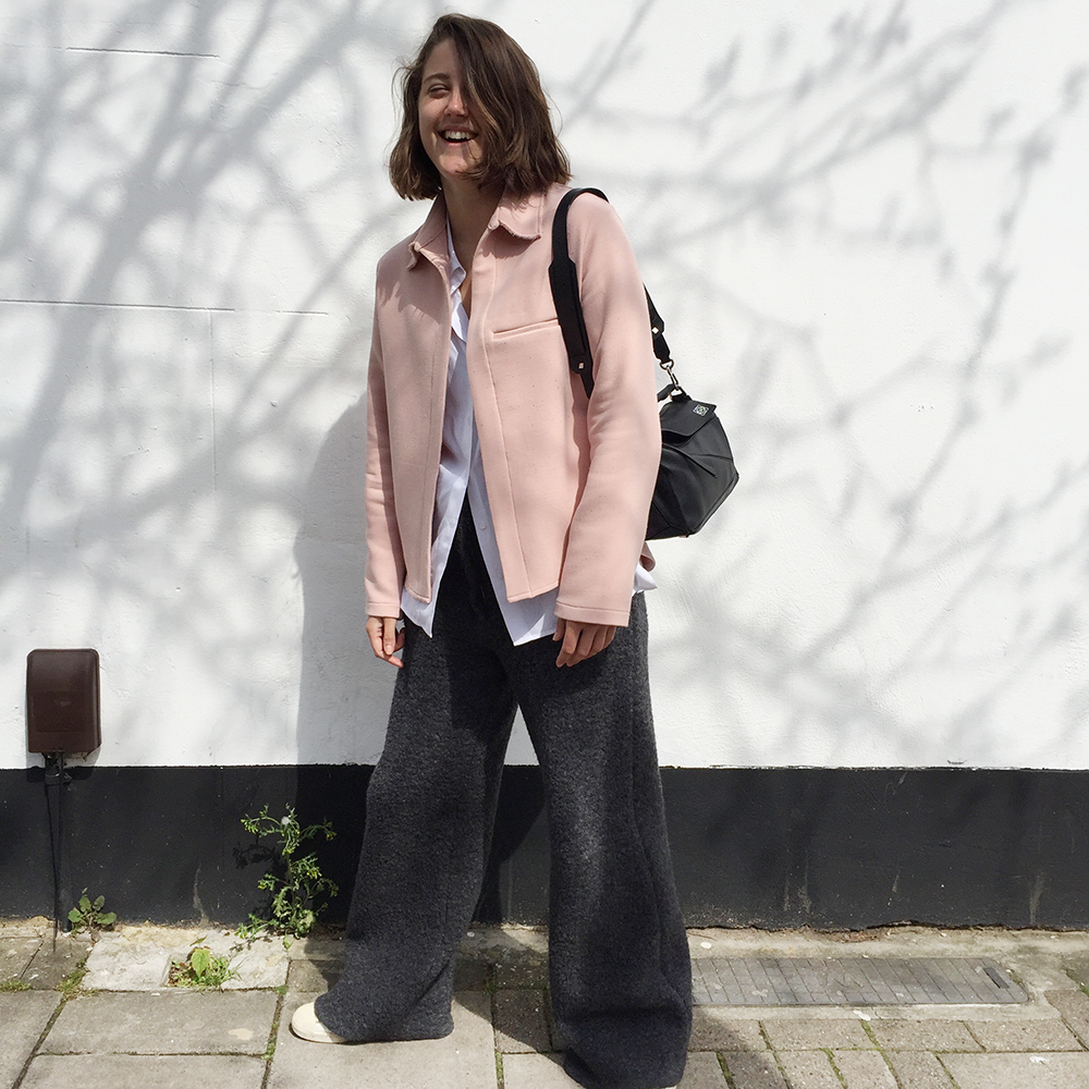 Charlie May Pink Jacket Alpaca pants