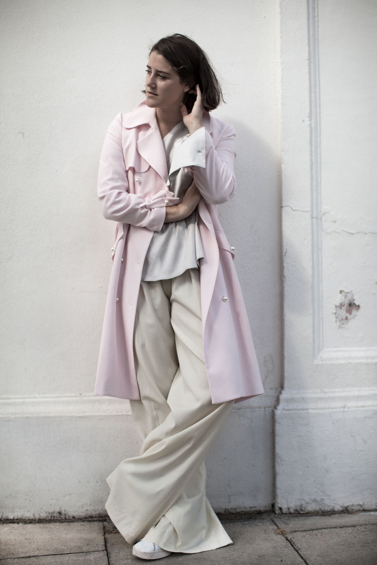 claudie-pierlot-pink-trench-harrods-girl-a-la-mode-2